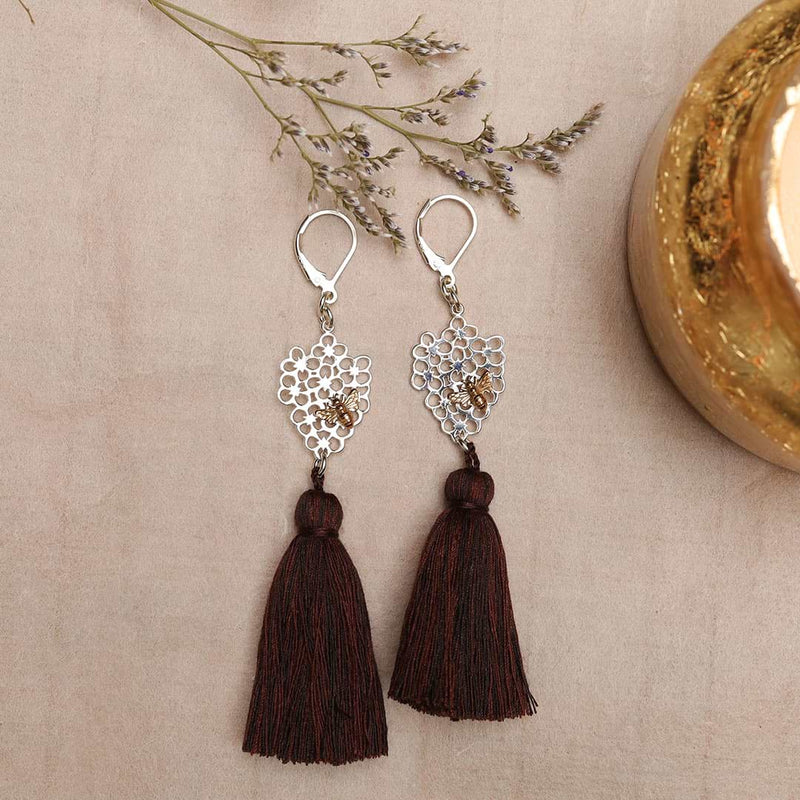 Queen Bee - Tassel Drop Earrings