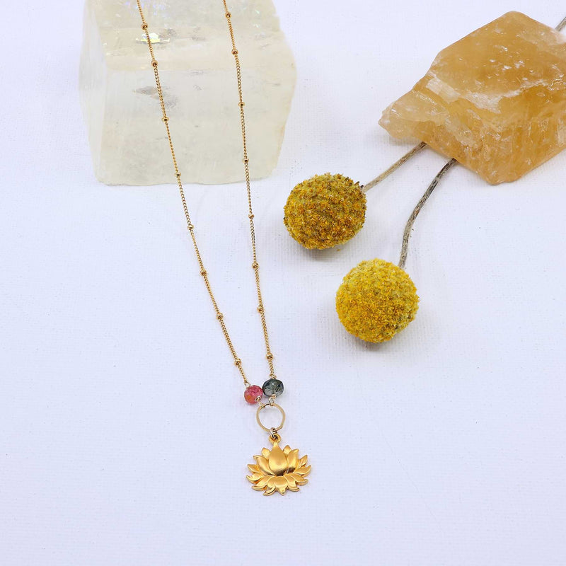 Rise - Lotus Blossom Necklace main image | Breathe Autumn Rain Artisan Jewelry