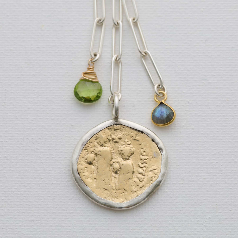 Roma - Sterling Silver Ancient Coin Pendant Necklace alt image | Breathe Autumn Rain Artisan Jewelry