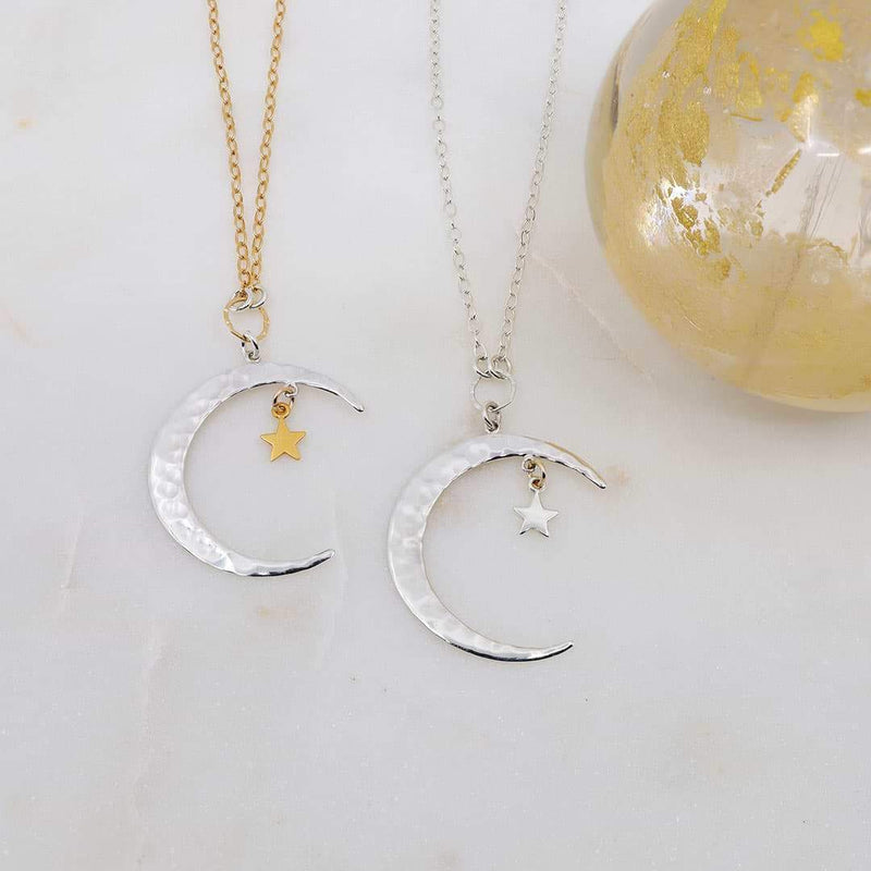 Shooting Star - Crescent Moon Necklace - main image | Breathe Autumn Rain