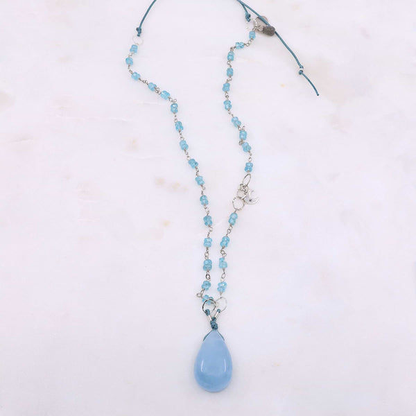 Skye's the Limit - Aquamarine Silver Necklace main image | Breathe Autumn Rain Artisan Jewelry