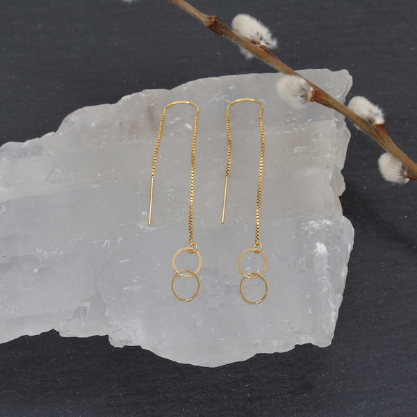 Soho - Gold Chain Drop Earrings main image | Breathe Autumn Rain Artisan Jewelry