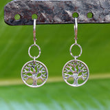 Tree of Life Sterling Silver Earrings - Small - BreatheAutumnRain