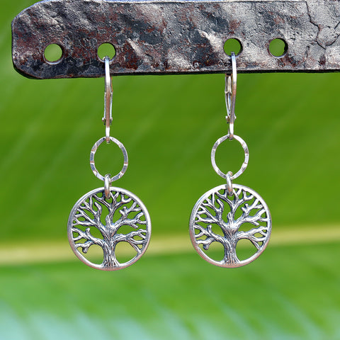 Tree of Life Sterling Silver Earrings - Small