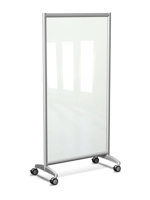 Mobile Rolling Full Height Glass Board by Rollin' Products - Collaboration Boards - 1