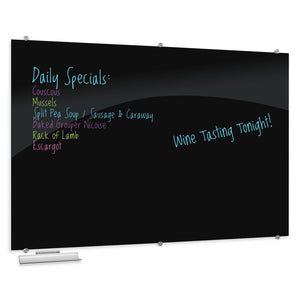 Visionary Black Magnetic Glass Dry Erase Whiteboard by Best-Rite Mooreco