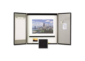 Premium Conference Room Cabinet Enclosed Board by Quartet - Collaboration Boards - 1