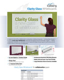 Clarity Glass Whiteboards with FREE Big-E Eraser by Iceberg! - Collaboration Boards - 4
