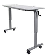 60″ Adjustable Flip Top Table, Crank Handle by Luxor