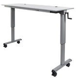 72″ Adjustable Flip Top Table, Crank Handle by Luxor
