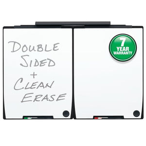 "Portable Board and Track Set for Motion System, Two 30"" x 40""Whiteboards, 30"" Mounting Track by Quartet"