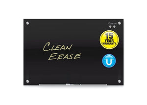 Magnetic Glass Dry-Erase Boards, Black Surface