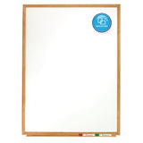 Standard Whiteboards, Oak Finish Frame
