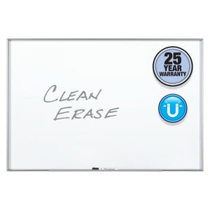 Fusion Nano-Clean™ Classroom and Office Magnetic Whiteboards, Silver Aluminum Frame