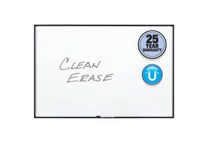 Fusion Nano-Clean™ Classroom and Office Magnetic Whiteboards, Black Aluminum Frame by Quartet