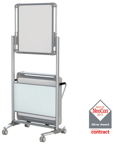 nexus caddy rolling mobile whiteboard by ghent - Rolling Whiteboard