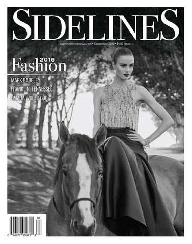 Press: Sidelines Magazine  Feature article and cover photo of Zinta in Sidelines magazine September 2016  Styling and creative direction by Zinta