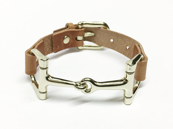 Handcrafted Leather Horse Snaffle Bit Bracelet D1555 | Ideana