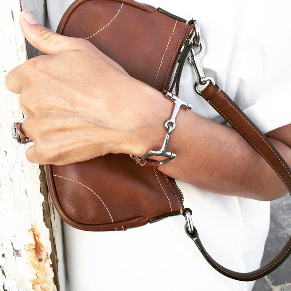 Handcrafted Leather Horse Snaffle Bit Bracelet S1563 | Ideana