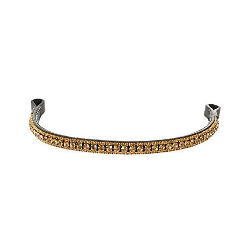 Horze Graham Browband Brown/Gold