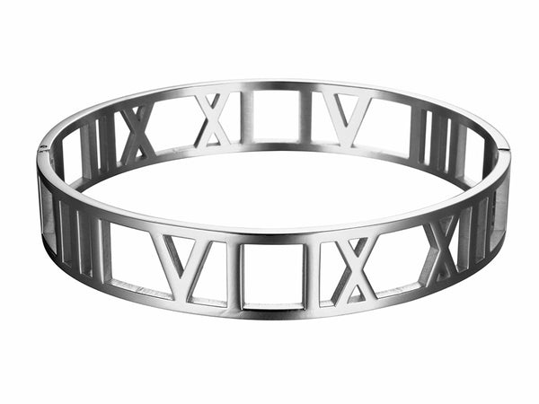 Cuff Bracelet with Wide Roman Numeral    | Ideana