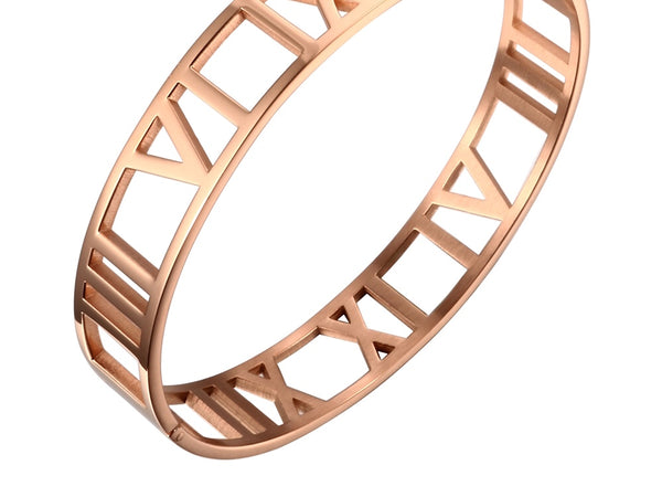 Wide Stainless Steel Cuff Bracelet    | Ideana