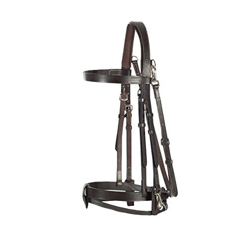 Horze Supreme Sparta Hunter Bridle, Dark Brown - Cob