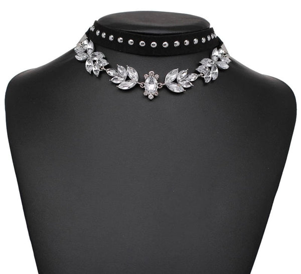 Elegant and Designer Crystal Choker Necklace - C1