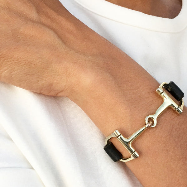 Handcrafted Leather Horse Snaffle Bit Bracelet S1564 | Ideana