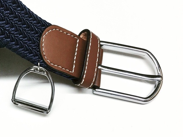 Woven Equestrian Belt with Stirrup Charm B2912 | Ideana