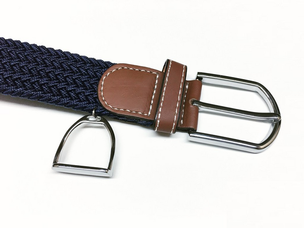 Woven Equestrian Belt with Stirrup Charm B2911 | Ideana