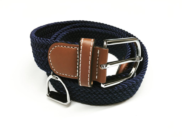 Woven Equestrian Belt with Stirrup Charm B2910 | Ideana