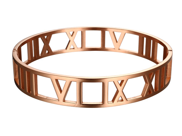 Wide Cuff Bracelet with Roman Numeral | Ideana