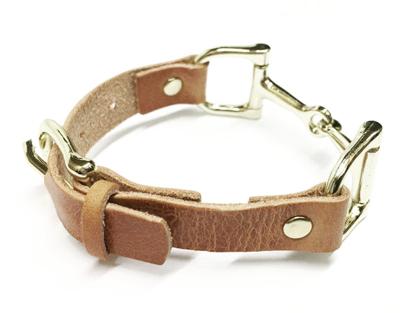 Handcrafted Leather Horse Snaffle Bit Bracelet L1557 | Ideana