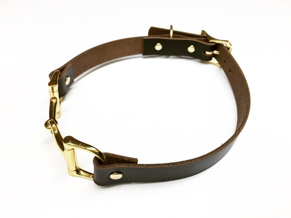 Equine Leather Dog Collar D2303 | Ideana