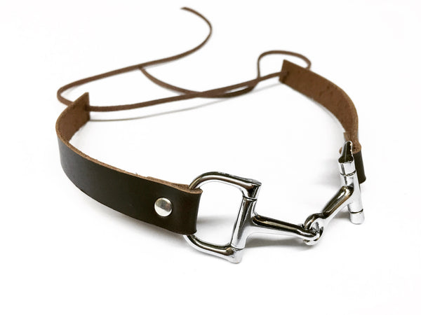 Choker Necklace with Snaffle Stirrup G1304 | Ideana