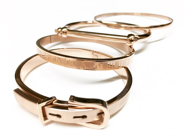 Stainless Steel 316L Cuff Collection Set, Designer and Elegant Bangle Bracelet Set