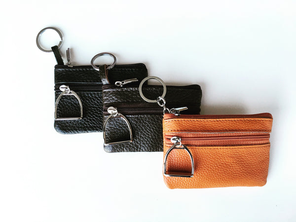 Leather Coin Purse and Key Chain L1162 | Ideana