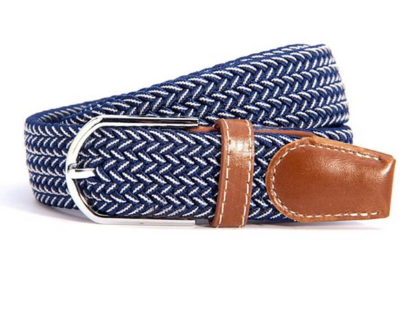 Woven Equestrian Belt with Stirrup Charm B2905 | Ideana