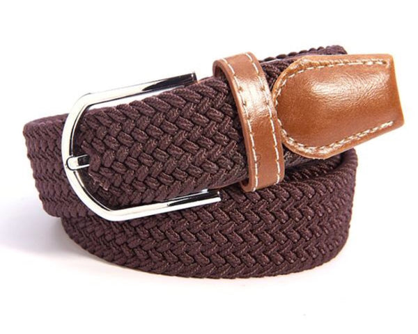 Woven Equestrian Belt with Stirrup Charm    | Ideana