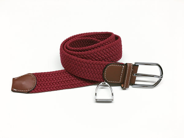 Woven Equestrian Belt with Stirrup Charm G2907 | Ideana
