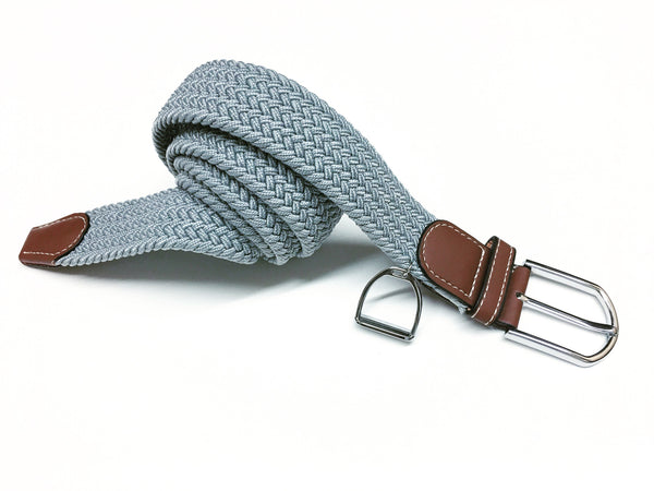 Equestrian Elasticated Woven Belt featuring Horse Stirrup by Ideana