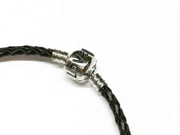 Set of Three Baided Leather Bracelet, Equestrian Style
