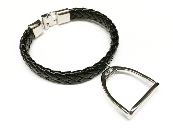 Braided Leather Horse Bracelet B2798 | Ideana