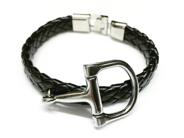 Braided Leather Horse Bracelet    | Ideana