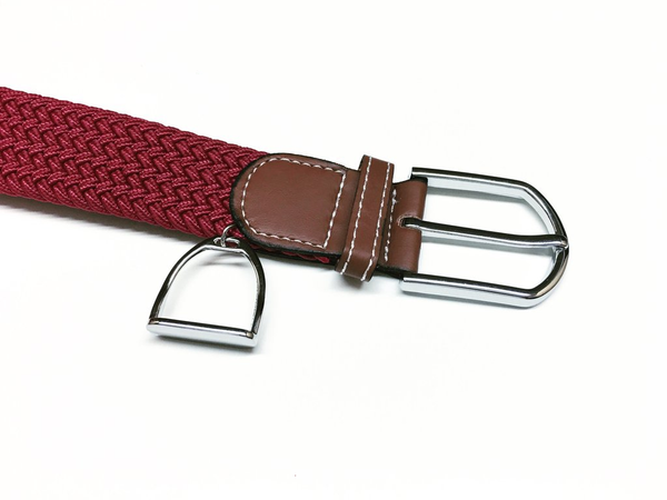 Woven Equestrian Belt with Stirrup Charm D2908 | Ideana