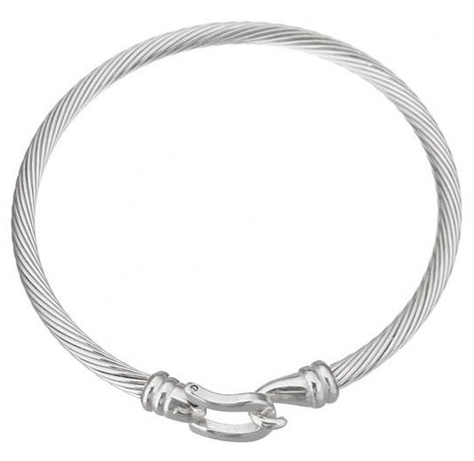Twisted Cable Cuff Bracelet Snaffle    | Ideana