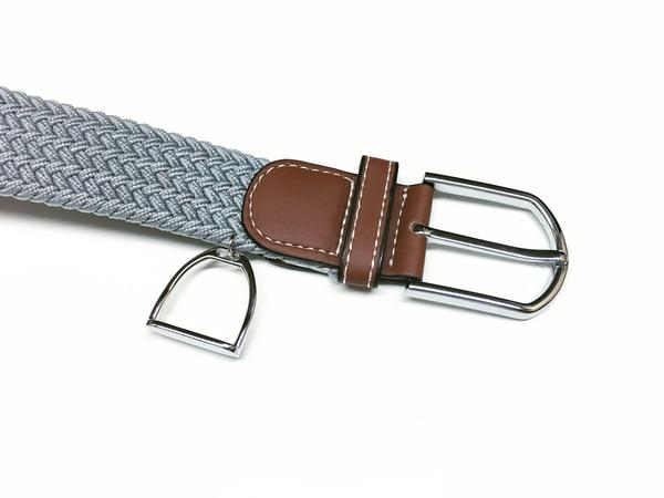 Woven Equestrian Belt with Stirrup Charm B2913 | Ideana