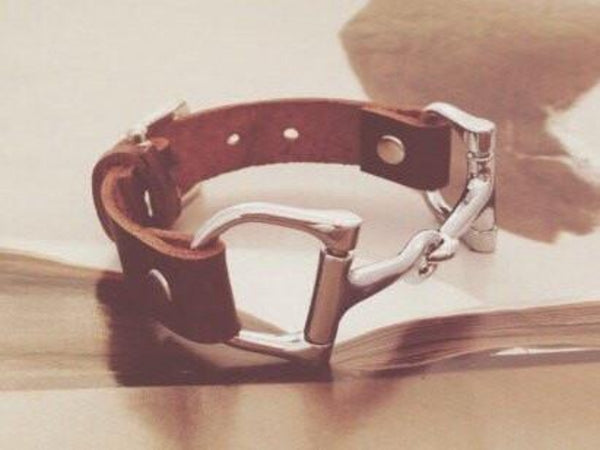 Leather Wrap Equestrian Bracelet B3766 | Ideana