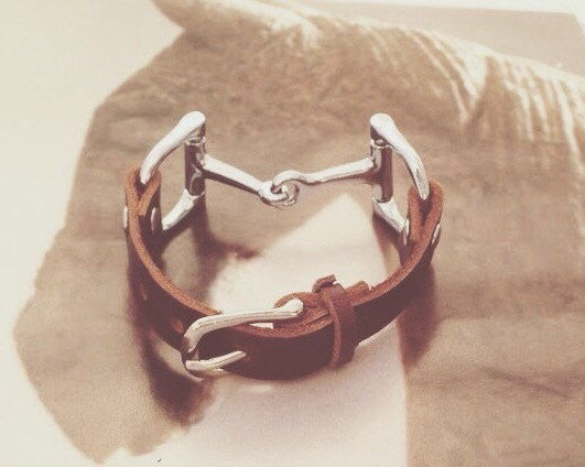 Leather Wrap Equestrian Bracelet B3768 | Ideana